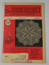 THE WORKBASKET MAGAZINE AUGUST 1956 VINTAGE PATTERNS & ADS