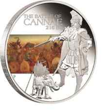 2009 Tuvalu, Famous Battles in History - Cannae,  1oz Silver Proof Coin