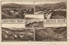 """""""Vintage old photo postcard from collection"""" Greetings from Devils Dyke"""
