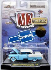 1955 Chevrolet 210 Hardtop 235  hellblau/weiss  / M2 Machines 1:64