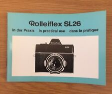 Original Blue Rolleiflex SL26 In Practical Use Manual, Instruction Book Genuine