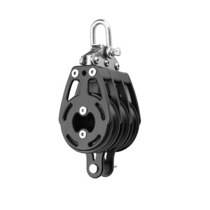 Spintech 57 MM Triple  Sailboat Block With  Becket