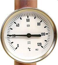 """Anlegethermometer Bi 63 A Montagefeder von 3/8""""-1 1/2"""" Gehäuse: ø 63 mm"""