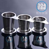 Filtro per infusore per tè in acciaio inox con vassoio antigoccia per teiera