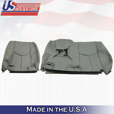 '60/40' REAR LEAN BACK Leather Seat Cover Gray 2003 - 2006 Chevy Tahoe Suburban