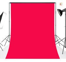 LB Plain Red Vinyl Photography Backdrop Background Studio Photo Props 3X5FT 29