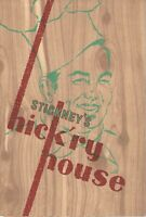 1950s STICKNEY'S HICK'RY HOUSE Restaurant Menu, Redwood City & Palo Alto, CA