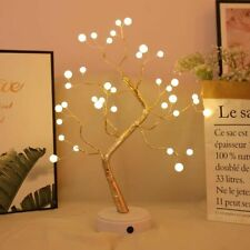 Led Light Christmas Tree Home Decorations Copper Wire Pearl Beads Willow Branch