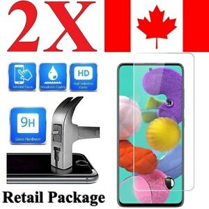 Premium Screen Protector For Samsung Galaxy A51 (2 PACK)