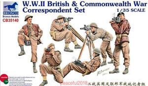 Bronco 1/35 CB35140 WWII British & Commonwealth War Correspondent Set