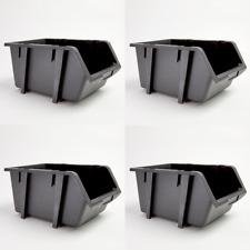 4 Pack Stacking Storage Bins Tool Parts Storage 6 7/8
