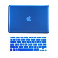 "2 in1 ROYAL BLUE Crystal Hard Case for Macbook PRO 13"" A1278 with Keyboard Cover"