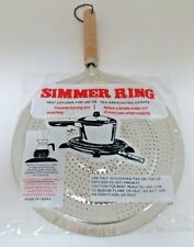 Stovetop Simmer Ring Heat Diffuser for Use on Gas and Electric Ranges  Aluminum.