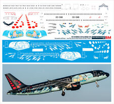 1/144 PAS-DECALS decals for AIRBUS A320-18 BRUSSELS AIRLINES TinTin