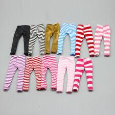 New 1/6 Dolls Stripe Leggings Pants Dress Up for Blythe BJD SD DOD LUTS Doll