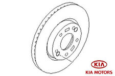 Genuine Kia Sportage 2010-2016 TWO Front Brake Discs - (2x) - 517122Y000
