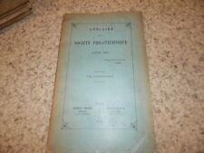 1894.Annuaire de la société philotechnique.Camoin de Vence.Paul Pionis