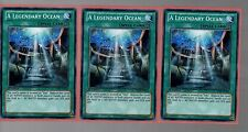 Yugioh Cards - Playset of 3x A Legendary Ocean SDRE-EN024 1st Edition