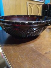 Collectible Avon 1876 Cape Cod Collection Ruby Red Cranberry Glass Serving Bowl