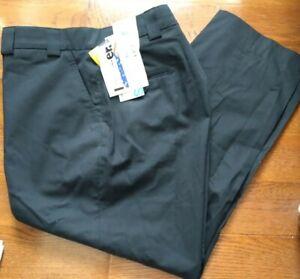 NEW Men's Blauer 3x Dry Dark Navy Pants 8821 Flat Front 40 x 29 Mens FREE SHIP