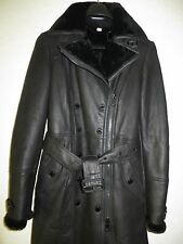 NEW $4,995 BURBERRY LONDON SWANWICK Women Sheep Shearling Leather Coat Size 02