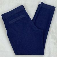 Old Navy Pixie Cropped Pants Stretch Denim Trouser Dark Wash Mid Rise Size 10