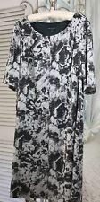 NEW ~ Plus Size 22W 2X Gray Floral Career Sheath Short Sleeve Dress $88