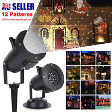 12patterns LED Laser Projector Light Christmas Xmas Party Outdoor Landscape Lamp RGB 12 Patterns