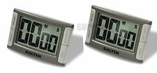 2 X SALTER CONTOUR MAGNETIC & SELF STANDING KITCHEN TIMER LOUD BEEPER