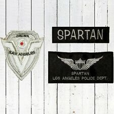 Set Replica Demolition Man Embroidered Patches Spartan San Angeles Police Dep.
