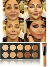 10 Color Contour Face Makeup Set Concealer Camouflage Neutral Palette Kit +Brush