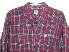 Mens CINCH button shirt XL purple Plaid rodeo cowboy western ranch rockabilly