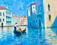 11X14 AskArt Listed Artist Nino Pippa Original Oil Painting Venice Grand Canal