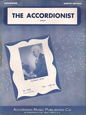 ACCORDION SOLO sheet music THE ACCORDIONIST MARCH Ampco Ed. PIETRO DEIRO 1954