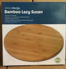 KitchenWorthy Bamboo Lazy Susan NEW