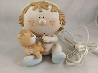 "Bumpkins Boy and Teddy Bear Light Lamp 6"""