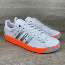 Adidas Forest Hills Originals Men's White Orange Silver Shoes Sneakers Size US 9