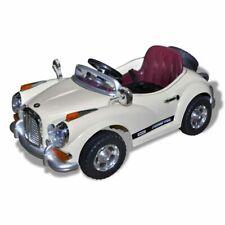 vidaXL Elektrische Kinderauto Retro Stijl Lichtgeel Speelgoedauto Rijspeelgoed
