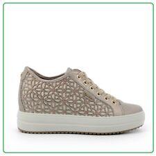 Igi&Co Zapatillas de Mujer Zapatos Igico Con Cuña Interior de Piel Y Lona Verano