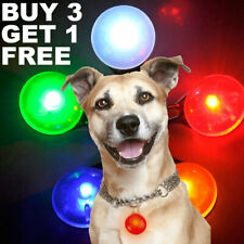 Pet Cat Dog Safety LED Clip Buckle Night Light Flashing Collar Pendant Neon New