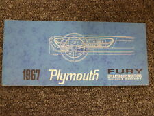 1967 Plymouth Fury Coupe Sedan Wagon Convertible Owner Manual 2 3 Sport Original