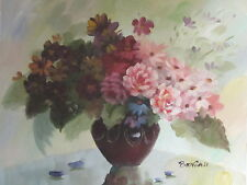"Original Hand Painted Alma's Flowers 8""x10"" Oil Painting Canvas Floral Art"