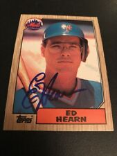 Ed Hearn New York Mets Autographed Card Royals