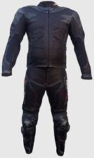 COMBINAISON MOTO EN CUIR IN CORDURA S M L XL 2XL 3XL 2 partie noir protecteur-CE