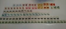 stamps 100 mix lot transportation series strips singles   mnh etc