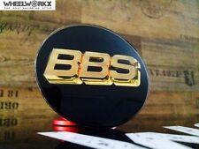 Original BBS Emblem Felgendeckel Nabenkappen schwarz/gold 3D 80 mm 56.24.038