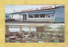 x Canada Quebec 1970 postcard RESTAURANT LE HERON Carleton sur mer to Beth PA