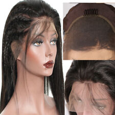 "20"" Lace Front Hair Wigs Hairline Straight Brazilian Wig Pre Plucked +Baby Hair"
