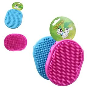 Pet Bath Brush Cat Dog Double Sided Silicone Grooming Massage Mitt Comb, 5035