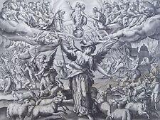 Renaissance 16th Century Copper Engraving Jesus Christ Judgement Day Apophis !